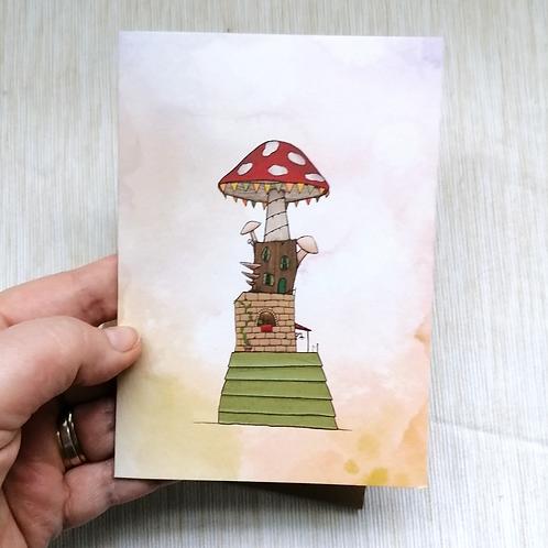 Autumn House Greetings Card