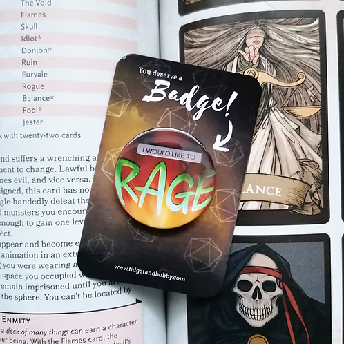 I Would Like to Rage DnD  Button Badge