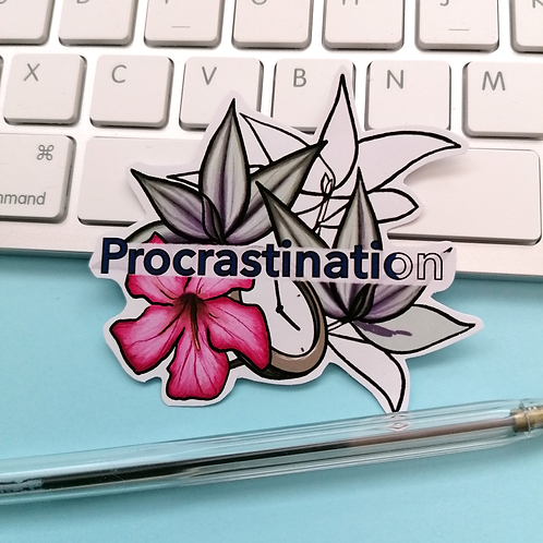 Procrastination Sticker