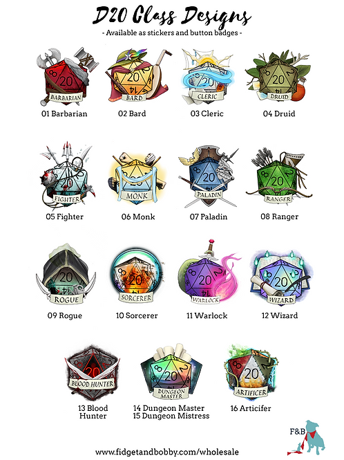Class Button Badges  Dungeons and Dragons