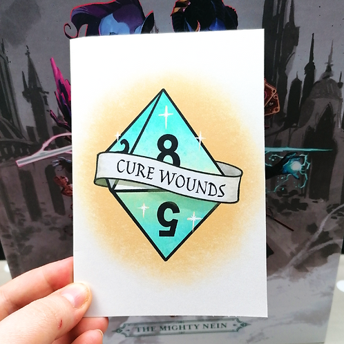 Cure Wounds Greeting Card - Get Well Soon