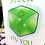 Thumbnail: Stuck on You Greeting Card - Valentine's Day - Gelatinous Cube