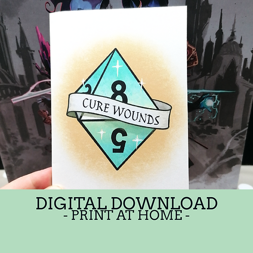 Cure Wounds Card Digital Download