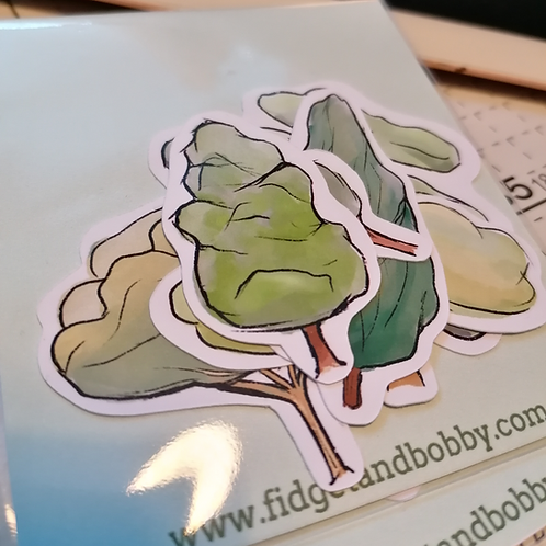 Watercolour Trees Sticker Pack