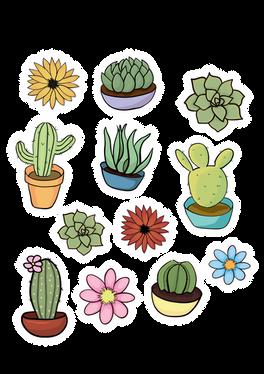Cartoon Succulents