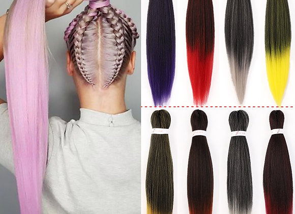 Multi-colored Pre-Stretched Braiding  Easy Braid Synthetic Hair