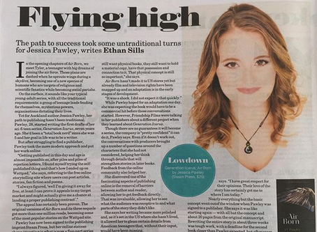 J L Pawley featured in national newspaper the NZ Herald