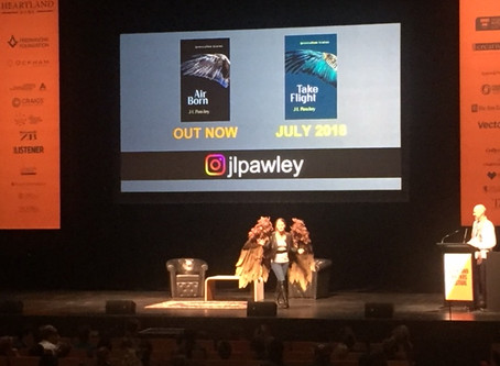 J L Pawley appears at Auckland Writers Festival 2018