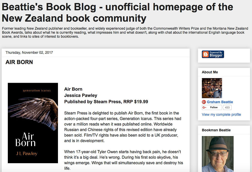 Beattie's Book Blog screenshot