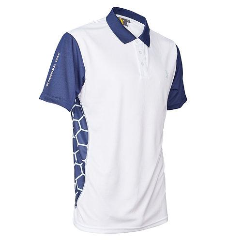 Parbuster V-II Polo Shirt - White/Blue