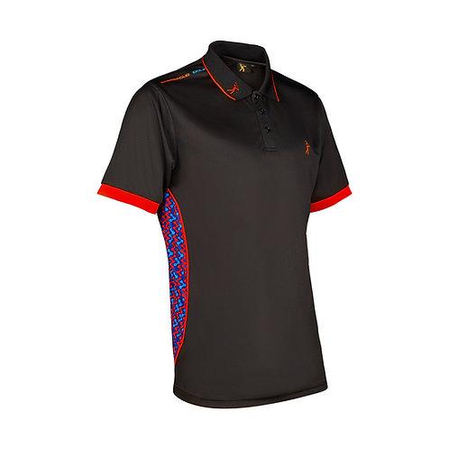 Contour Polo - Black/Red