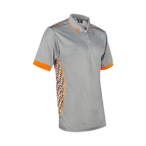 Contour Polo - Grey/Orange