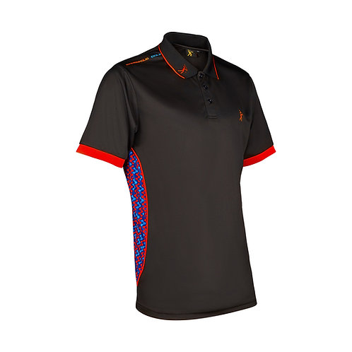 Contour Polo - Black/Red
