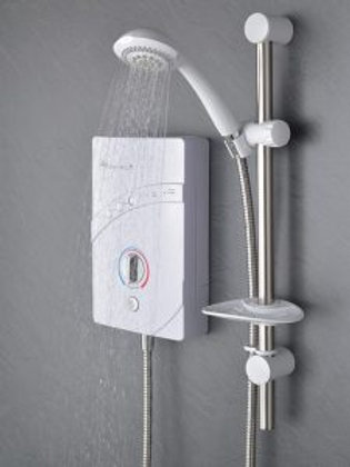 Inspiration QI (9.5kW) White & Chrome Electric Shower GCK