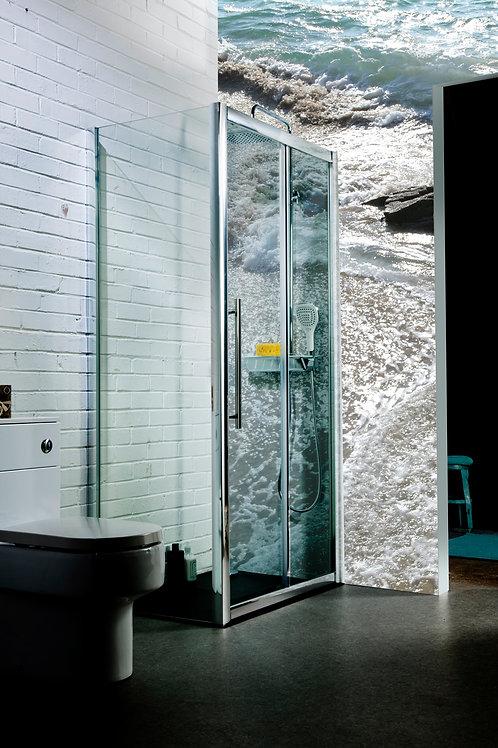 8mm Glass Single Sliding Shower Enclosures