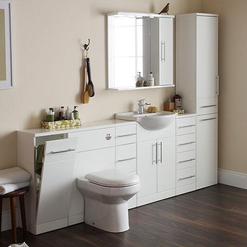 IMP Bathroom Furniture Basin Unit Range Gloss White