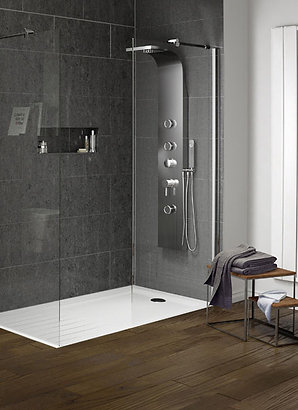 Elements Flat Top Walk-In with Drying Area Shower Tray