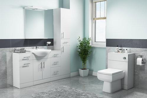 Gloss White Furniture Basin Unit Range