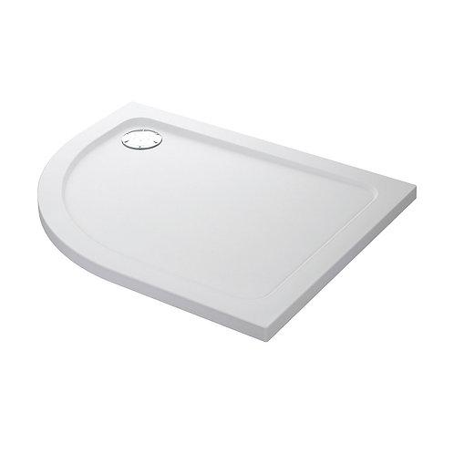 KVit  Offset Quadrant Stone Resin Low Profile Shower Tray