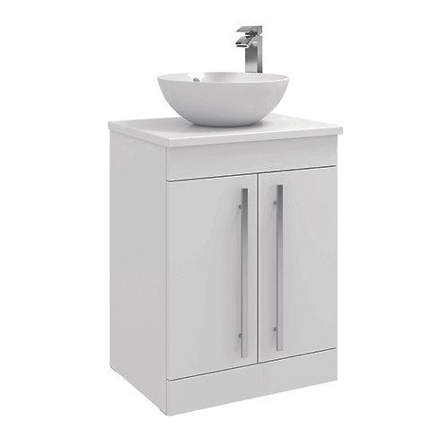 Purity Gloss White / Grey Ash / Storm Grey Sit On Bowl Furniture Range