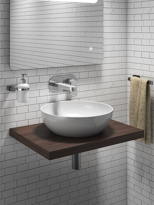 FLOATING SHELF FOR COUNTER TOP BASIN
