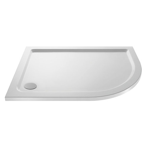 Offset Quadrant 1000 x 800mm Pearlstone Shower Tray
