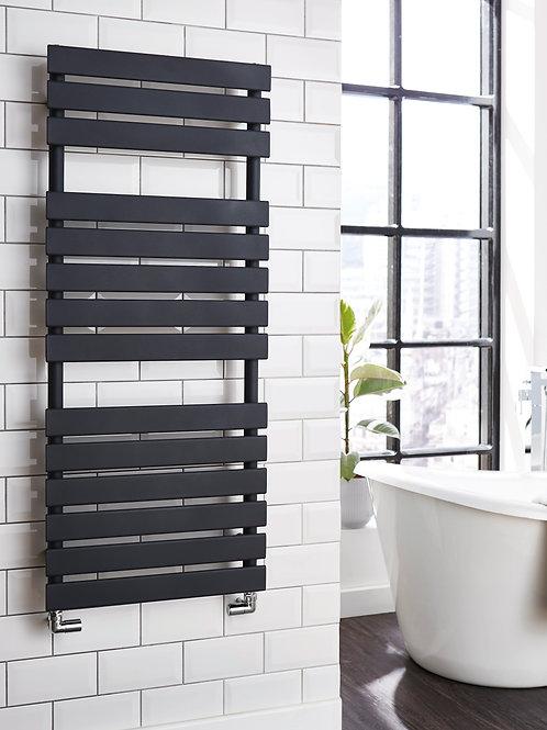 Designer Anthracite Matt Flat profile Towel Radiator