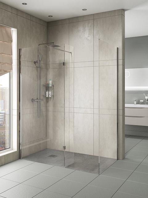 Anti Slip Stone Resin 1650 X 700 Shower Tray Walk In Wet Panel