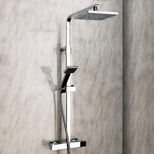 Elite Square Thermostatic Exposed Shower