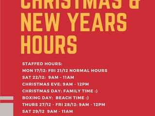 2018 Holiday Staffed Hours