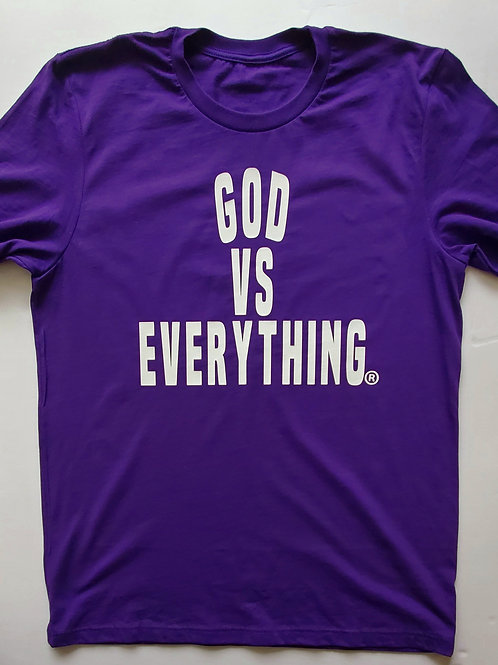 GVE Logo Tee - Purple/White