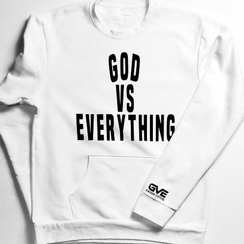 GVE Pocket Sweatshirt - White