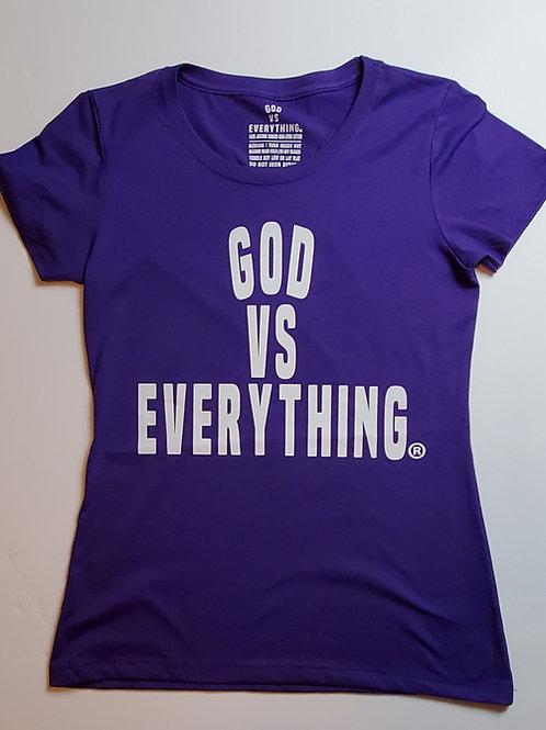 GVE Woman Logo Tee - Purple/White