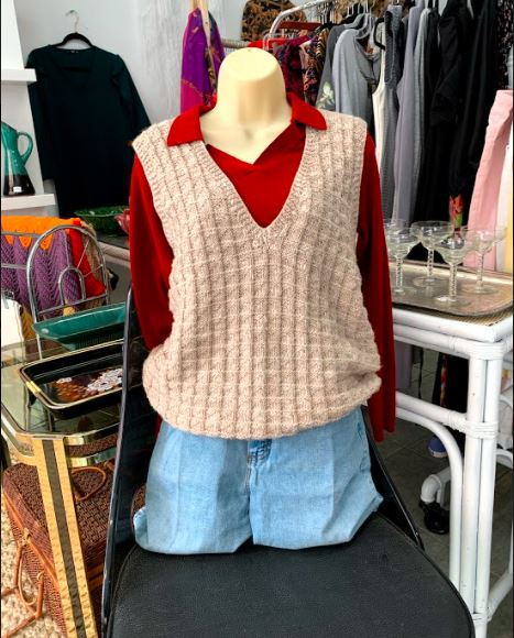 Vintage Sweater Vest Outfit