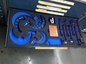 Blue Foam Shadow Board Design