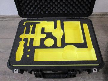 Yellow Foam In-Case Application