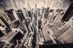 Manhattan From The Window (Study)