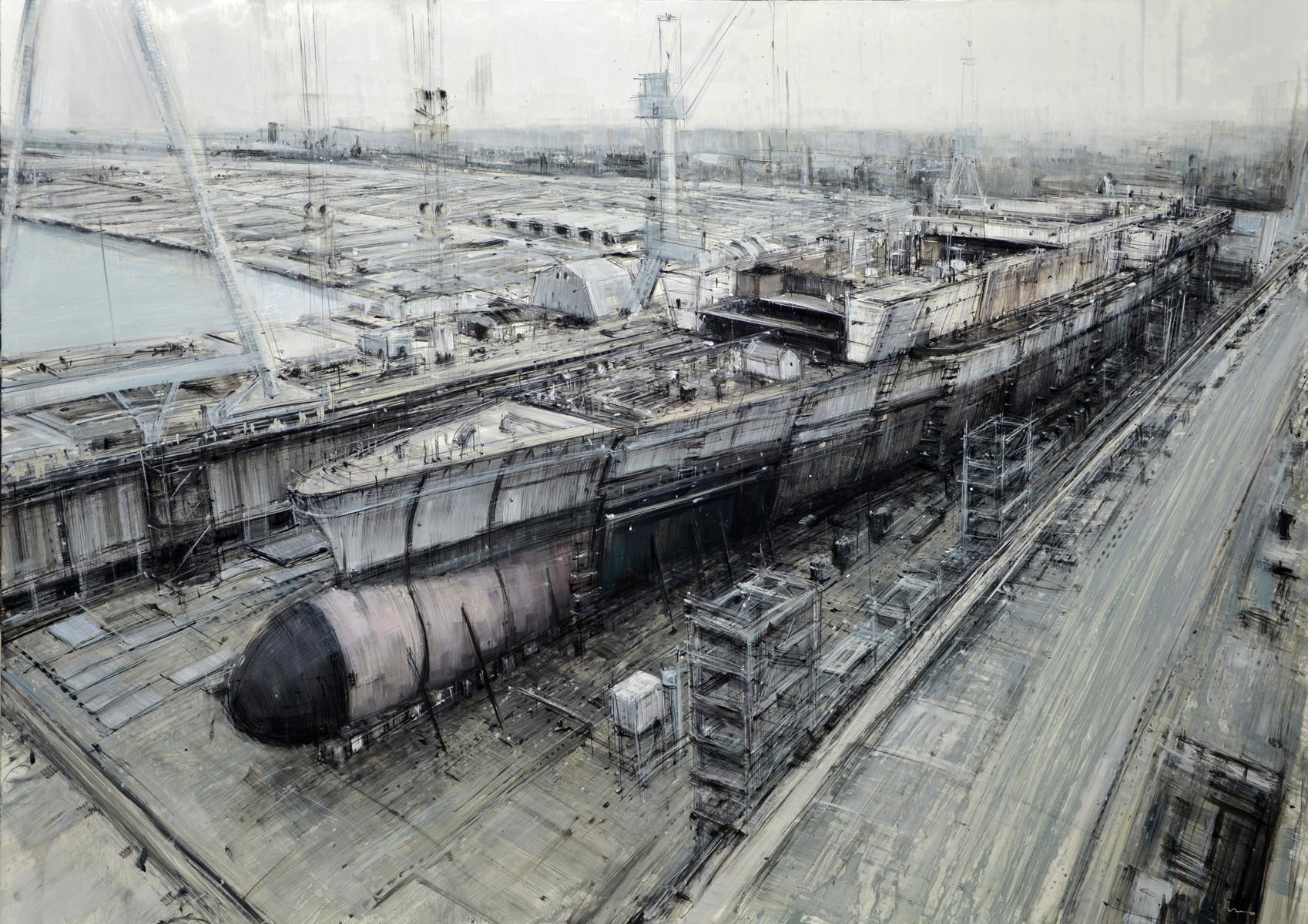 Ship Under Construction (Study)