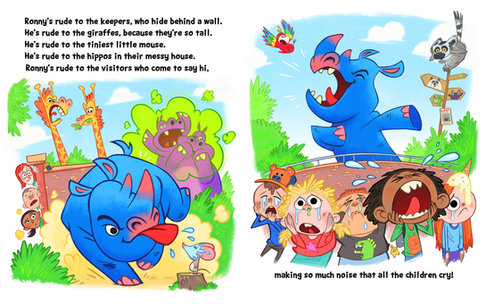 Rude Rhino Pages 3 and 4