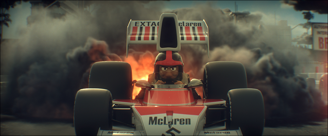 Ayrton Senna Tooned Car