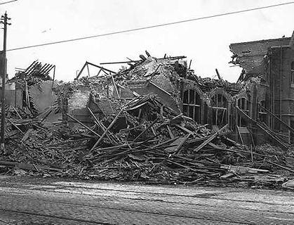 St Andrew's church hall - bomb wreckage.jpg