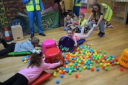 Hungry hippos at our summer Bible holida
