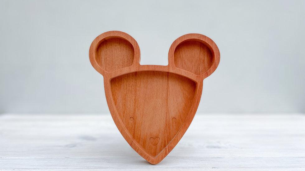 Dřevěný talířek - myška