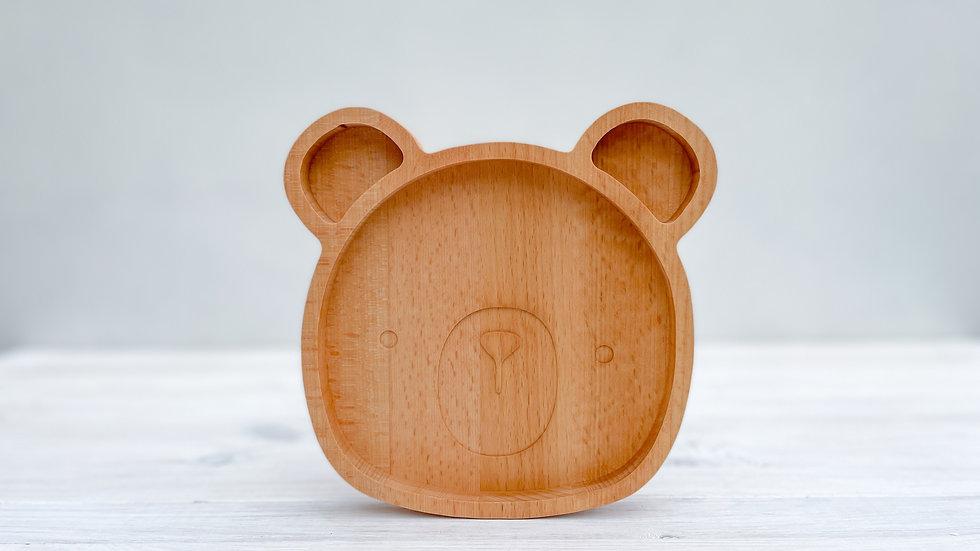 Dřevěný talířek - medvídek