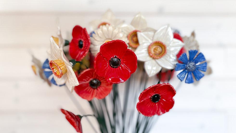 Keramické květiny