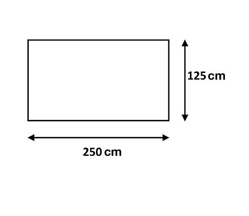 Cuadro de 125 x 250 cm