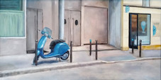 Blue Scooter, Rue Dauphine