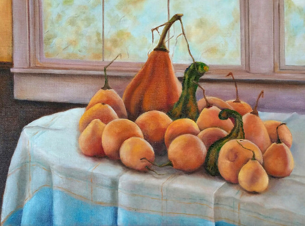 Still Life with Pear Gourds