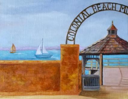 Colonial Beach Wine Label