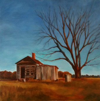 Abandoned Cabin, Corn Field